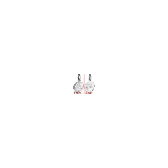TAS14, SI 925 Taufanhänger Herz mit Schutzengerl