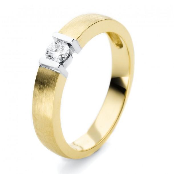 1H146GW454-1, Brillantring - Verlobung