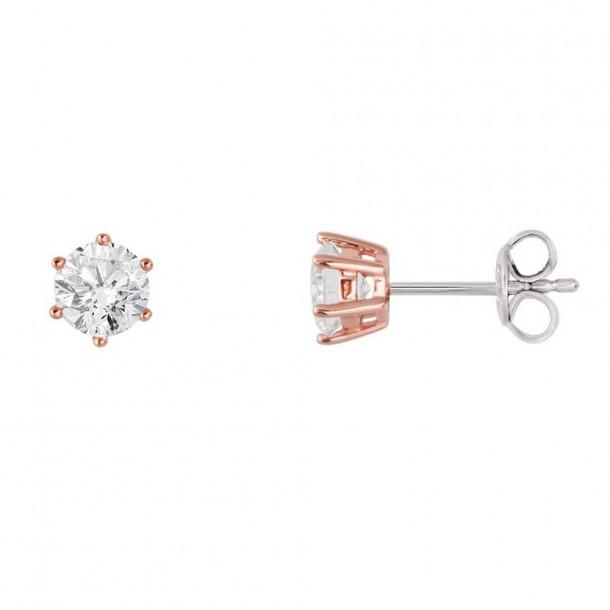 XS7262R, Ohrstecker Silber 925 rosevergoldet