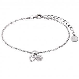 Armband Silber Herz mit Zirkonia, XS2930