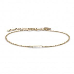 Armband - Mott Gold silbervergoldet - JMOG-J002