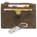 COWBRAUN, Lederset - Cardholder mit Geldfach und Schlüsselanhänger