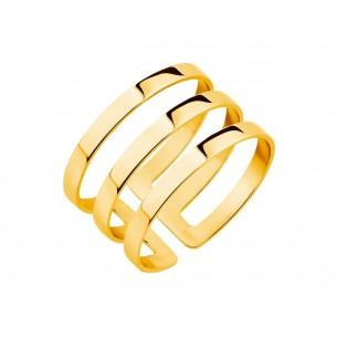 Ring - Edelstahl vergoldet, EL125-6551-55