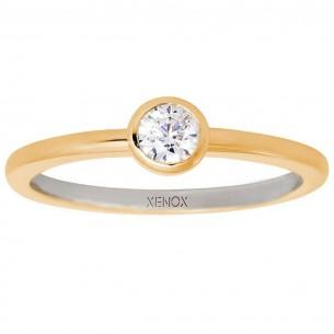 Xenox Ring Silber vergoldet, XS7279G/56