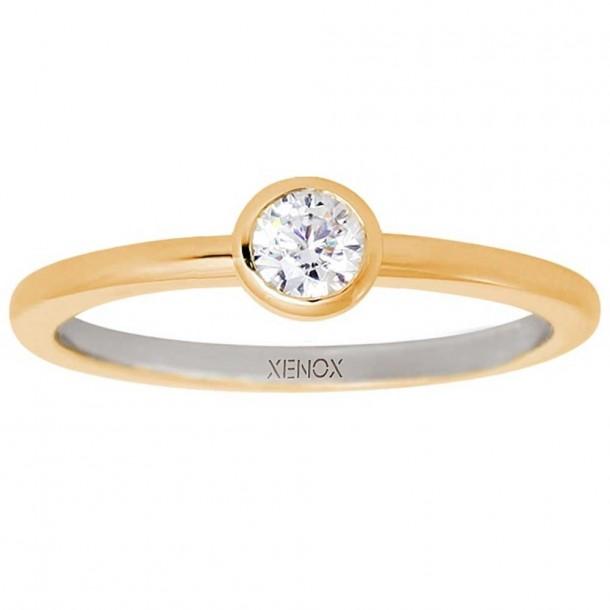 Xenox R-RG SI 925/- Zirk. vergoldet - XS7279G/58
