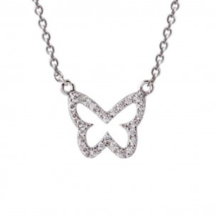 Xenox Collier Schmetterling Silber, XS2925
