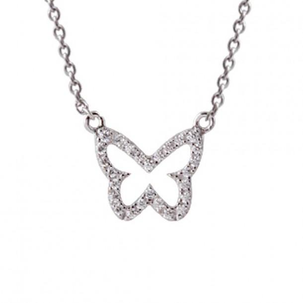 Xenox Collier Schmetterling Silber - XS2925