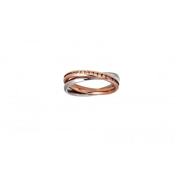Xenox Ring Stahlrose` Zirkonia - X2353/50