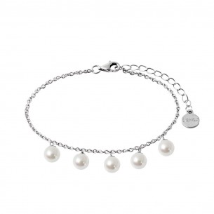 Armband Silber - synthetische Perlen, XS5365