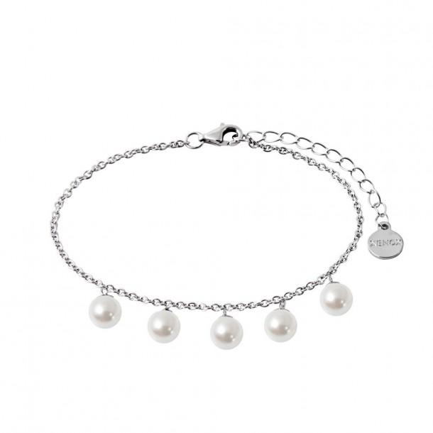 Xenox Armband Silber - synthetische Perlen - XS5365