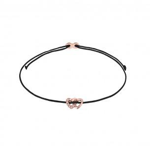 Xenox Armband Mädchen - Doppelherz rose` - XS1685R