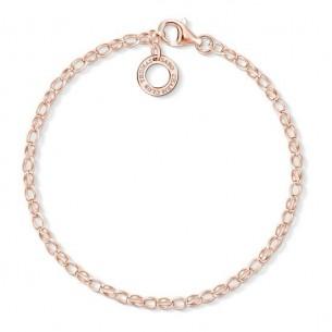 Armband - Charm rose vergoldet, X0243-415-40-L15,5