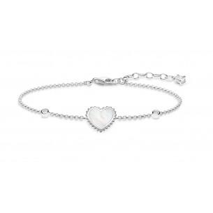 Armband Silber - Herz Perlmutt, A1765-030-14-L19V