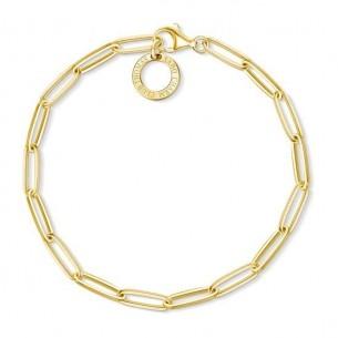 Armband Charm - silbervergoldet, X0253-413-39-L18,5