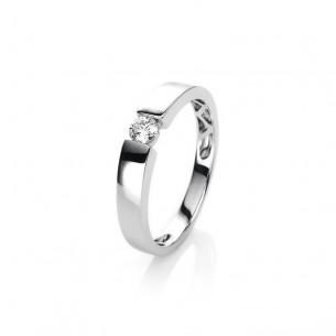 Diamond Group Brillantring Verlobungsring - 18Karat Weissgold 750 - 1H615W856-1