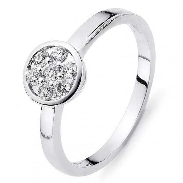 Diamond Group Brillantring Weissgold 585 - 1C002W454-1