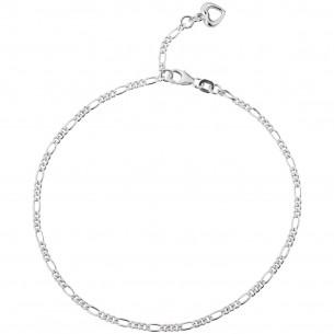 Fusskette Silber 925 Figaro, FSK06