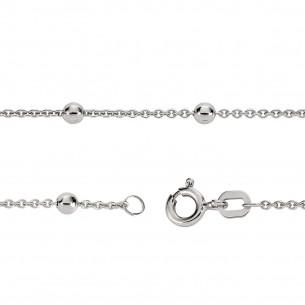 Fusskette Silber 925/ Kugel, FSK02