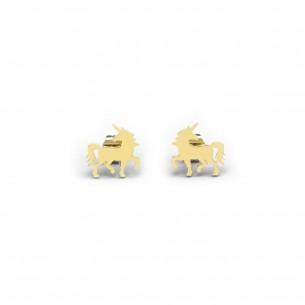 Diadoro Trendline Mädchen-Ohrstecker, Einhorn silbervergoldet DIAEIN233, 9120059502216