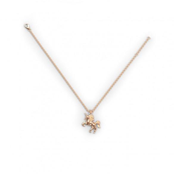 Diadoro Trendline Mädchen-Anhänger mit Kette, Einhorn rose`vergoldet DIAEIN332, 9120059502261