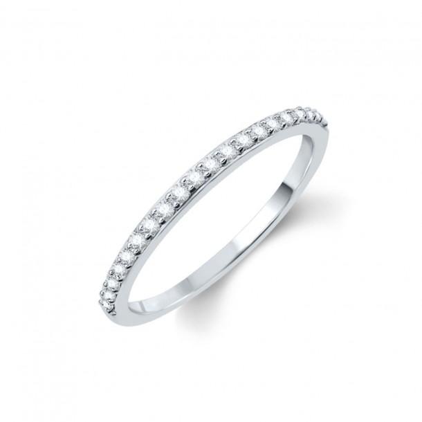 Best of Diamonds Brillantring Memoire - Weissgold mit 21% Palladiumanteil R1029W52, BODR1029W