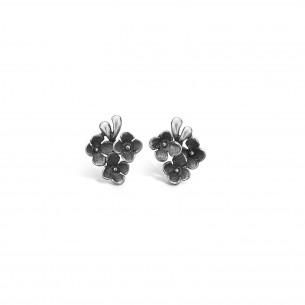 Blossom Ohrstecker Silber 925/- oxidiert Flower 22911190, 22911190