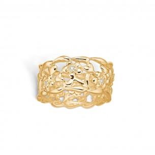 Blossom Ring Silberverglöde4t 925/- Zirkonia - Romantic Flower 23621107-53, 23621107