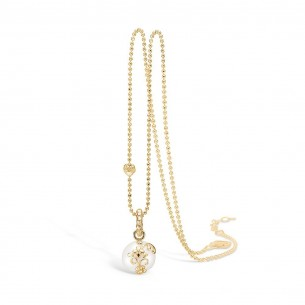 Blossom Collier silbervergoldet 925/- Süsswasserperle 23331028-45, 23331028