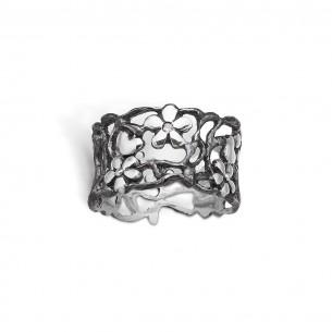Blossom Ring Silber 925/- matt oxid glänzend - Flower 22641163-34-57, 2264116334