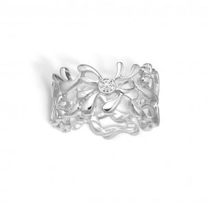 Blossom Ring Silber 925/- Shiny 21621083-57, 21621083