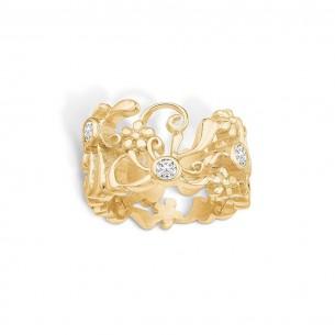 Blossom Ring Silbervergoldet 925/- Zirkonia Romantic Gold 23621082-56, 23621082