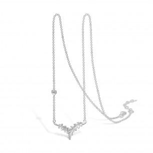 Blossom Collier Silber 925/- Natur Eichenblatt 21301250-45, 2130125045