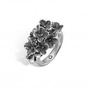 Blossom Ring Silber 925/-  Oxidised Sterlingsilber 22611190-58, 22611190