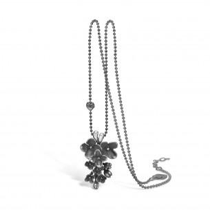 Blossom Collier Silber 925/- oxidiiert Flower 22301190-45, 22301190