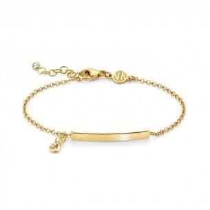 Nomination Armband - vergoldet mit hängendem Unendlich Symbol und gravierbarer Plakette 146233/005, 8033497455666