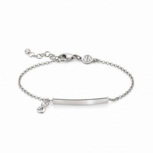 Nomination Armband mit hängendem Unendlich-Symbol und gravierbarer Plakette 146233/006, 8033497455673