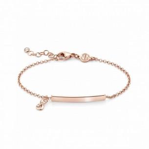 Nomination Armband - rosévergoldet mit hängendem Unendlich Symbol und gravierbarer Plakette, 146233/004