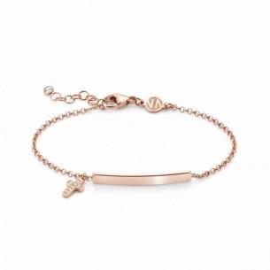 Nomination Armband rosévergoldet mit Kreuzanhänger und Plakette, 146233/012