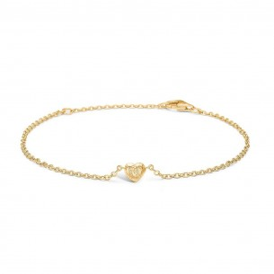 Blossom Armband silbervergoldet 925/- Herz 23101164-20, 23101164