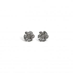 Blossom Ohrstecker Silber 925/- Blume oxidiert 22912088, 22912088