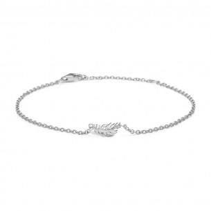 Blossom Armband Silber - Feder, 21101121-20