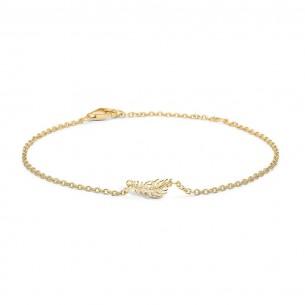 Blossom Armband Silbervergoldet - Feder, 23101121-20