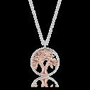 Engelsrufer Silbercollier silber rose vergoldet - Lebensbaum, ERN-LILTREE-BICOR