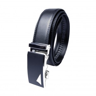 Herren Ledergürtel schwarz . Länge 126 cm kürzbar, JUWAG-006