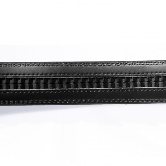 Herren Ledergürtel . schwarz . Länge 126 cm kürzbar, JUWAG-074