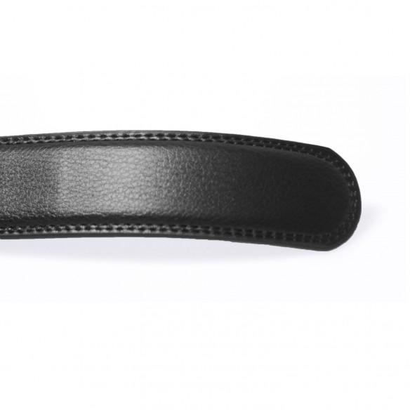 Herren Ledergürtel . schwarz . Länge 126 cm kürzbar, JUWAG-025