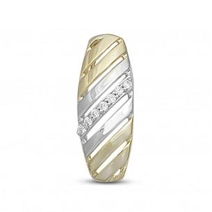 Brillantring Weiss-Gelbgold 585, Brillant 0,05ctp1w, GSET12R_18