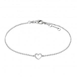 Armkette Weissgold 585, mit Herz Diamanten, D2615W