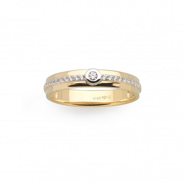 Ring Gelbgold 585, mit Brillanten Verlobung, D6462G