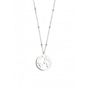 Xenox Collier Silber 925, mit Weltkugel, XS2984